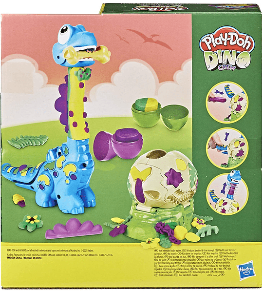 Dino Crew Growin, Dino Cuello Largo Play-Doh