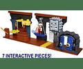 Set de Mazmorra Deluxe Fire Mario con 7 Figuras Interactiva Nintendo Super Mario