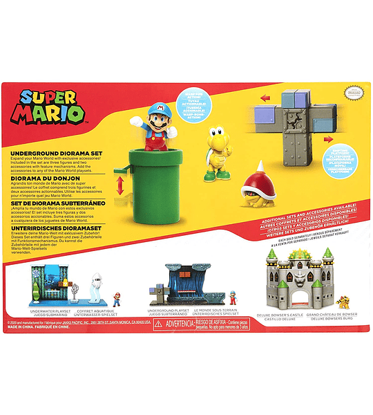Diorama - Set subterráneo Super Mario World Of Nintendo