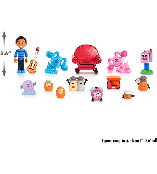 Set de 14 Figuras de Coleccion de Blue's Clues & You.