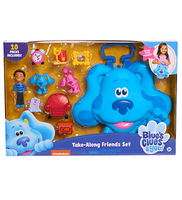 Set de 10 Figuras con Maleta para transportar de Blue's Clues & You!