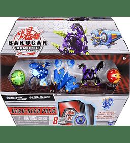Batrix Ultra con Baku-Gear y Ramparian Ultra Bakugan Baku-Gear