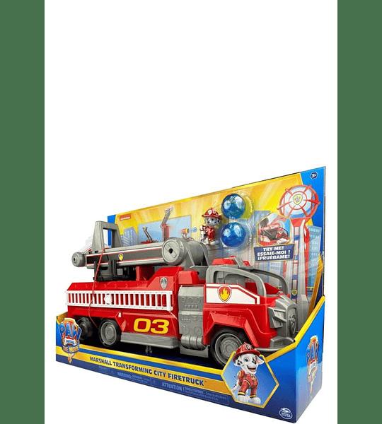 The Movie Marshall Transforming City Firetruck Paw Patrol