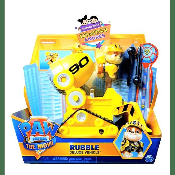 Rubble Deluxe Vehículo exclusivo The Movie la película de Paw Patrol