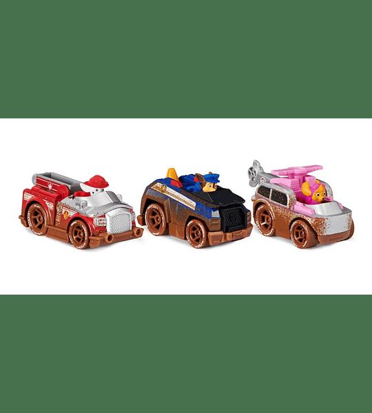 Off Road Mud set de 3 Figuras escala 1:55 True Metal Paw Patrol