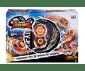 Kaleido Fox x Basal Tic Sword Division Battle Infinity Nado, Beyblade