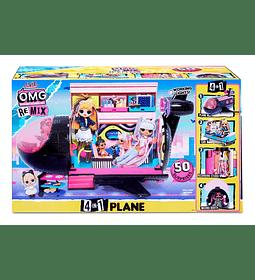 Avión exclusivo 4 en 1 LOL Surprise 50 Sorpresas OMG Remix