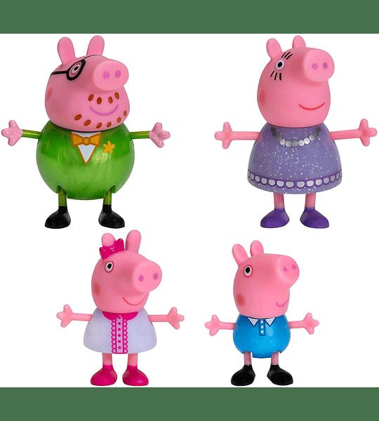 Peppa Pig Fancy Family set 4 Figuras