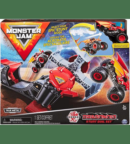 Monster Jam, juego oficial de Bakugan Dragonoid Stunt Dial con exclusivo 1:64 escala