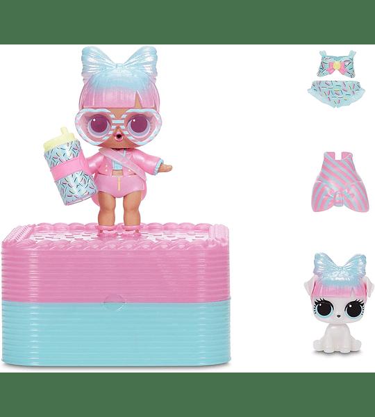 Deluxe Presente sorpresa con muñeca de edición limitada y mascota, rosa