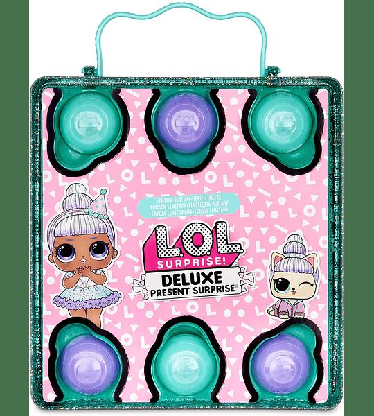 Deluxe Presente sorpresa con muñeca de edición limitada y mascota, color verde azulado