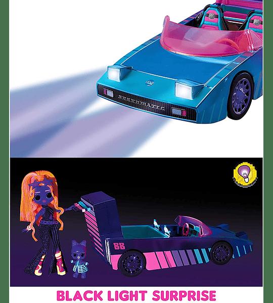 Vehículo con estilo con piscina sorpresa y pista de baile de fiesta