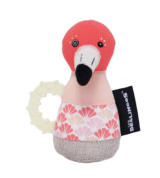 Cascabel Mordedores sonajero flamingos el flamenco, Les Deglingos
