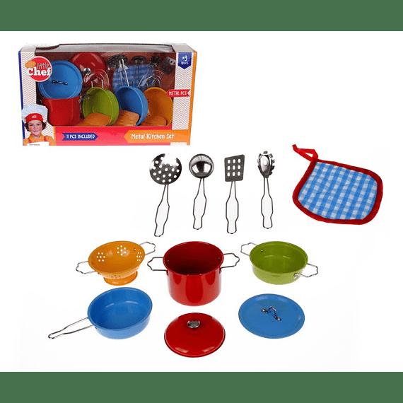 Set de ollas Metálicas de Colores