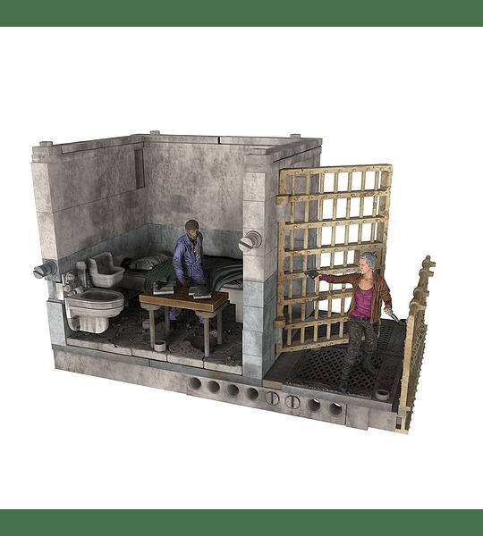 The Walking Dead - 109 piezas Upper Prison Cell. Colección de Lujo