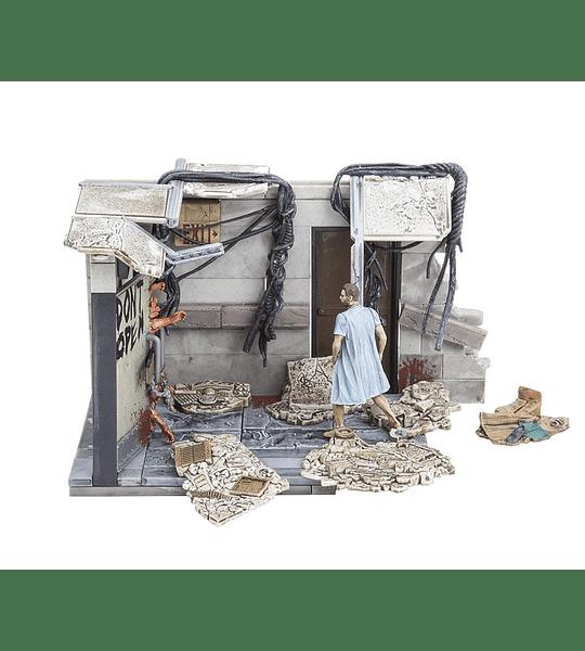 The Walking Dead - 112 piezas Hospital Doors, Coleccion de Lujo