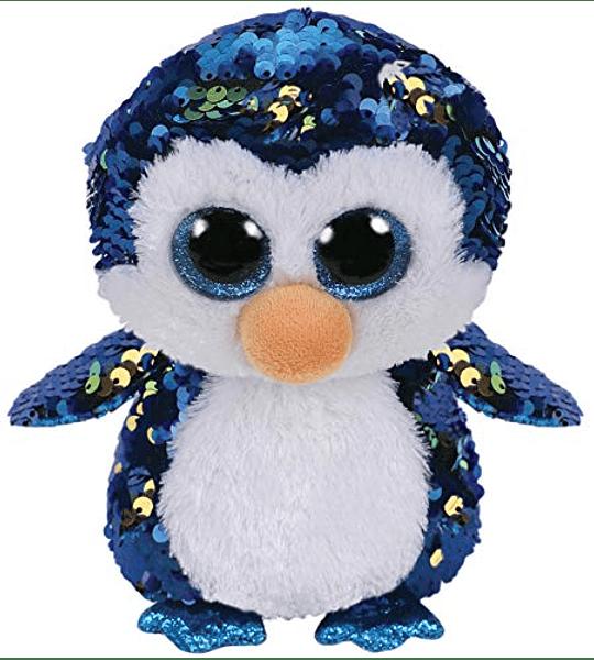 Ty Beanie Boos Lentejuelas Figuras Pingüino 18 CM