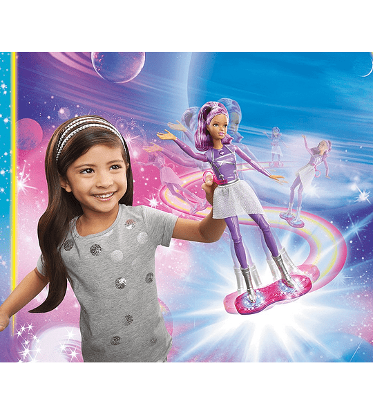 Barbie Star Light Adventure luces y sonidos hoverboarder (scooter eléctrico)