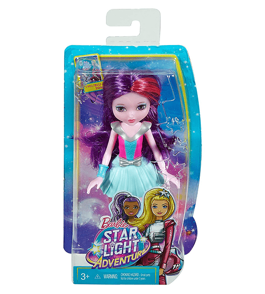 Barbie Star Light Aventura junior-sized muñeca, color morado