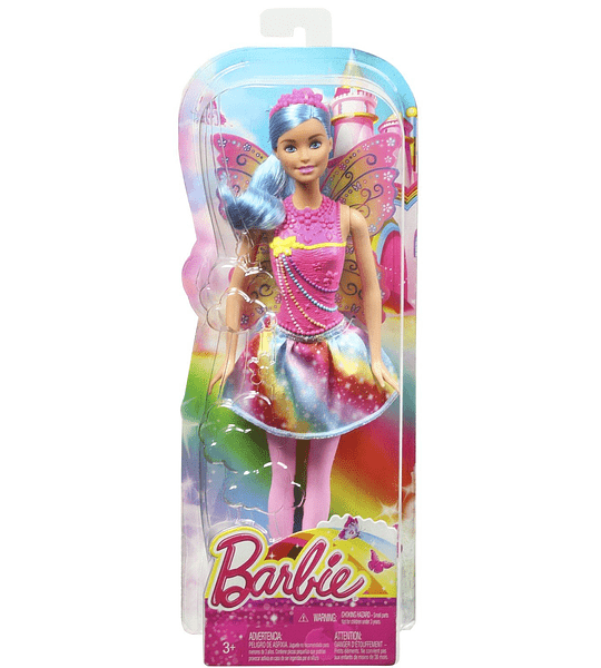 Barbie Muñeca hada Moda Arcoiris