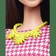 Barbie Fashionistas muñeca color blanco y rosa Pizzazz