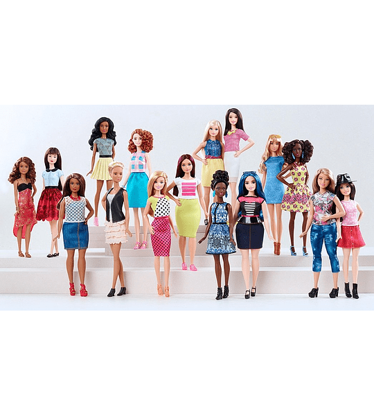 Barbie Fashionistas muñeca color blanco y rosa Pizzazz