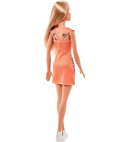 Barbie Fashionista, Muñeca Chic look naranja, Mattel