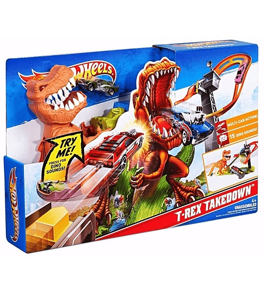 Pista de Hot Wheels T Rex