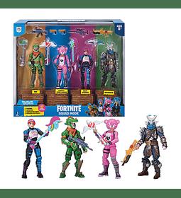 Fortnite - Set de 4 Figuras Articuladas con Accesorios