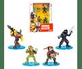 Fortnite - Set 4 Figuras, Raptor, Rust Lord, Rex, Raven edición limitada