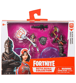 Fortnite - Pack-Surtido, caballero negro y triple amenaza