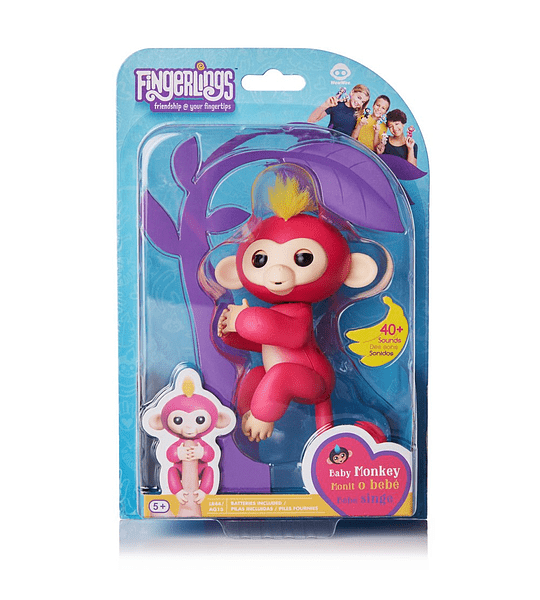 Fingerlings Monkey interactivo Bella
