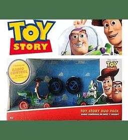 Par de Autos a Control Remoto Buzz Y Woody Toy Story