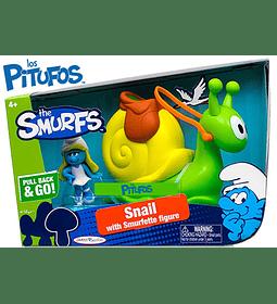 Pitufos - El Caracol con Figura de Pitufina (The Smurfs - Los Pitufos)