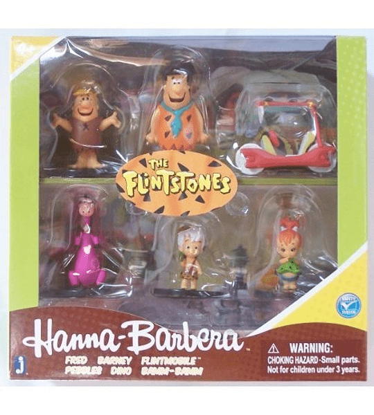 Los Picapiedras - Set de 6 Figuras  (Hanna-Barbera)