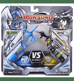 Monsuno Core Combat Wave 2 Evo y Crossbolt (paquete doble)