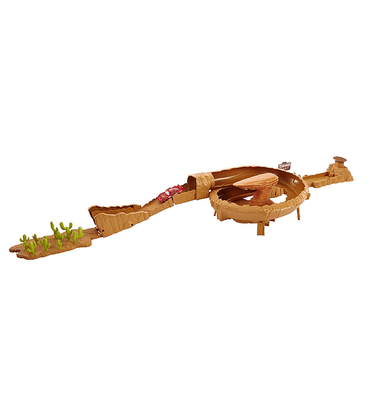Cars - Pista de Coches Monte Willy 3 en 1 (Mattel)