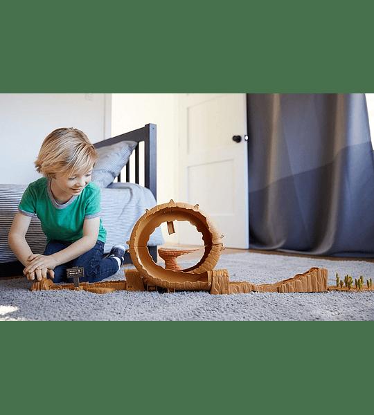 Cars - Pista de Coches Monte Willy 3 en 1 (Mattel)