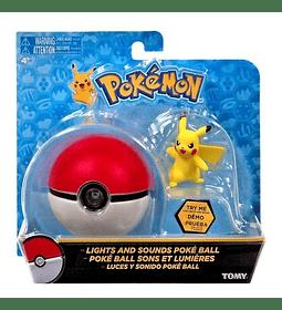 Pokebola Con Luz Y Sonidos Figura Pikachu