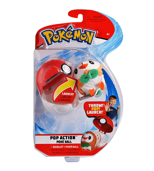 Pokémon Pop acción poké lanzador con lanzamiento mini-plush & Poke Ball