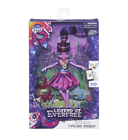 My Little Pony Legend of Everfree Crystal Wings Muñeca Twilight Sparkle