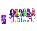 My Little Pony Toy Equestria Girls Fluttershy Deluxe Doll Neon Rainbow Rocks