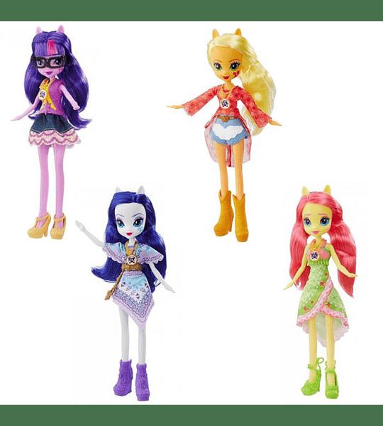 My Little Pony Muñeca Equestria Girls Everfree con Estilo Bohemio Rarity