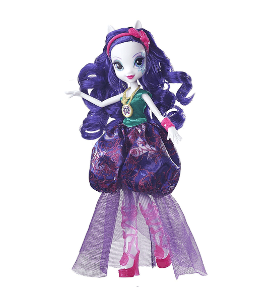 My Little Pony Equestria Girls Leyenda de Everfree Vidrio Gala Rarity