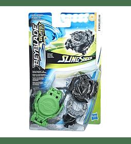 Beyblade Burst Turbo Slingshock Z Achilles A4 Negro + Lanzador