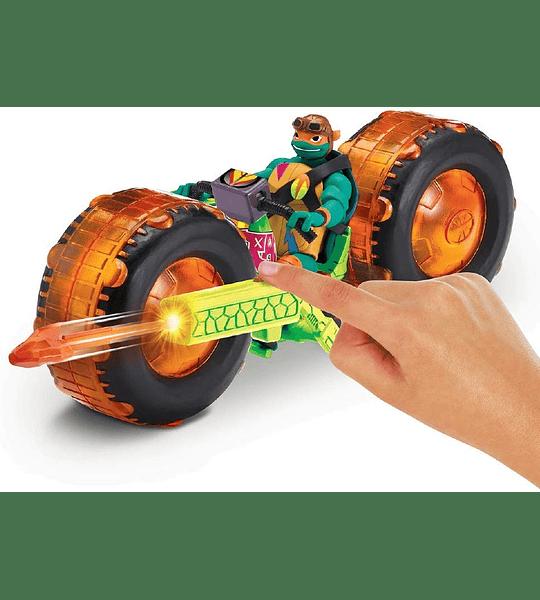 Tortugas Ninjas Miguel Angel - Moto mutantes vehículo con figura