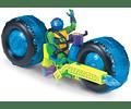 Tortugas Ninjas Leonardo - Moto mutantes vehículo con figura