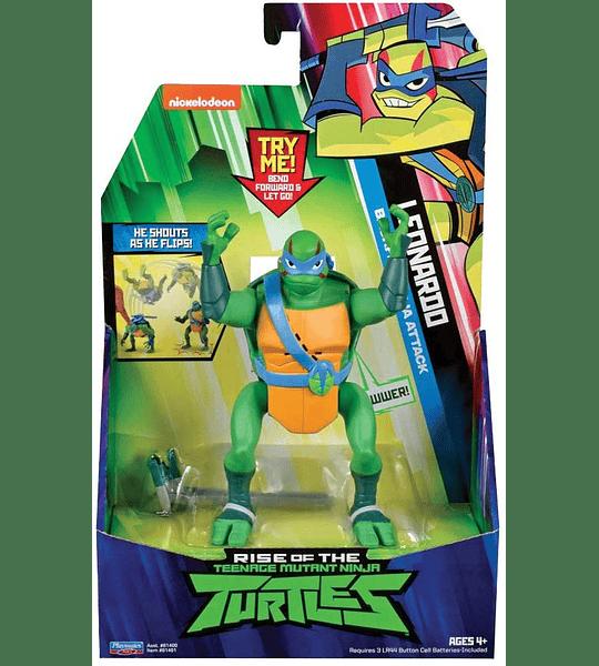 Tortuga Ninjas Leonardo - The Rise Deluxe Figuras de acción