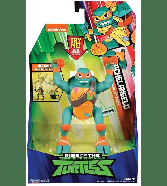 Tortuga Ninjas Miguel Angel - The Rise Deluxe Figuras de acción