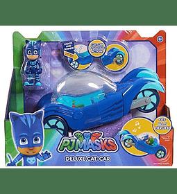 PJ Masks- Vehículo Deluxe gatauto y gatuno, Color Azul